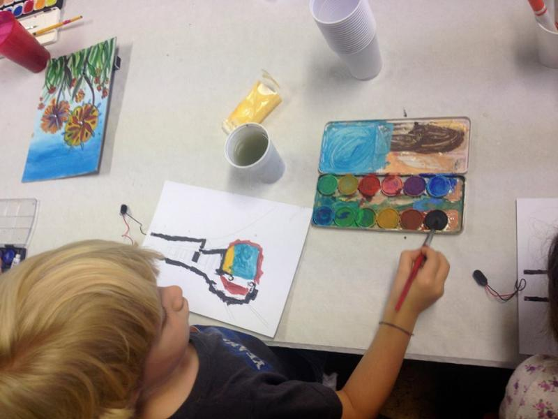 Touch Painting Workshop im weissen haus, Wien ©weisse haus